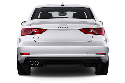 AUT 51 IZ0087 01 © Kimball Stock 2015 Audi A3 2.0 T DSG 4-Door Sedan Rear View In Studio