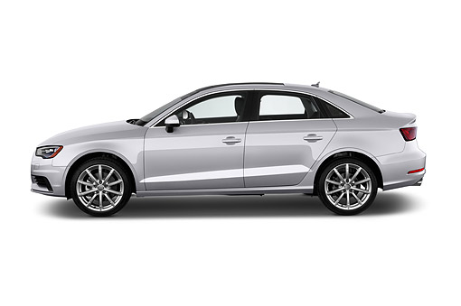 AUT 51 IZ0088 01 © Kimball Stock 2015 Audi A3 2.0 T DSG 4-Door Sedan Profile View In Studio