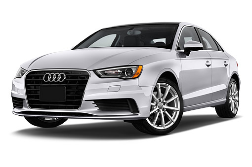 AUT 51 IZ0089 01 © Kimball Stock 2015 Audi A3 2.0 T DSG 4-Door Sedan 3/4 Front View In Studio