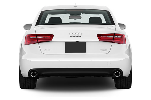 AUT 51 IZ0094 01 © Kimball Stock 2015 Audi A6 Quattro Tiptronic Premium 4-Door Sedan Rear View In Studio