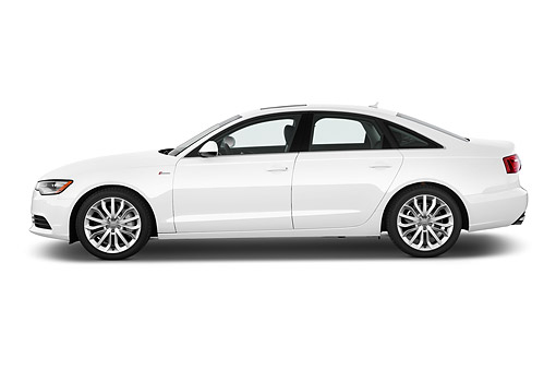 AUT 51 IZ0095 01 © Kimball Stock 2015 Audi A6 Quattro Tiptronic Premium 4-Door Sedan Profile View In Studio