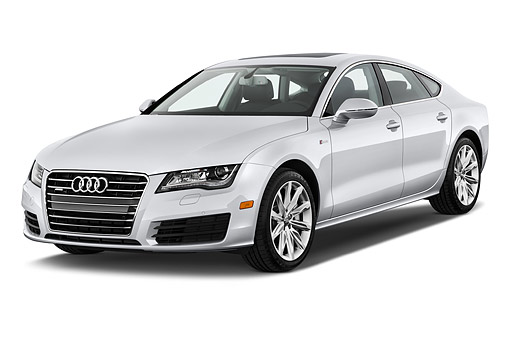 AUT 51 IZ0097 01 © Kimball Stock 2015 Audi A7 3.0t Quattro 4-Door Sedan 3/4 Front View In Studio