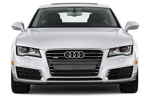 AUT 51 IZ0100 01 © Kimball Stock 2015 Audi A7 3.0t Quattro 4-Door Sedan Front View In Studio