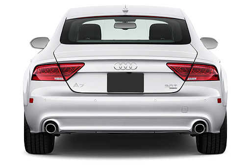 AUT 51 IZ0101 01 © Kimball Stock 2015 Audi A7 3.0t Quattro 4-Door Sedan Rear View In Studio