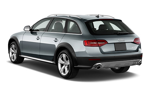 AUT 51 IZ0105 01 © Kimball Stock 2015 Audi Allroad 2.0 TFSI Quattro 8 Speed Tiptronic 4-Door Wagon 3/4 Rear View In Studio