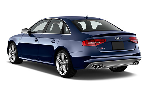 AUT 51 IZ0126 01 © Kimball Stock 2015 Audi S4 3.0t Quattro Manual Premium Plus 4-Door Sedan 3/4 Rear View In Studio