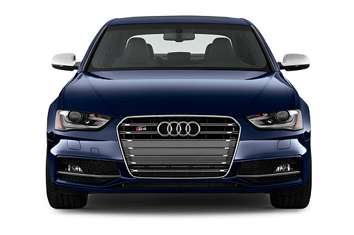 AUT 51 IZ0127 01 © Kimball Stock 2015 Audi S4 3.0t Quattro Manual Premium Plus 4-Door Sedan Front View In Studio