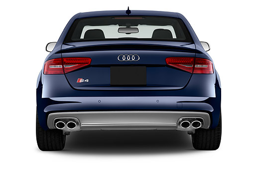 AUT 51 IZ0128 01 © Kimball Stock 2015 Audi S4 3.0t Quattro Manual Premium Plus 4-Door Sedan Rear View In Studio