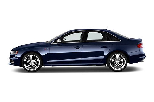 AUT 51 IZ0129 01 © Kimball Stock 2015 Audi S4 3.0t Quattro Manual Premium Plus 4-Door Sedan Profile View In Studio