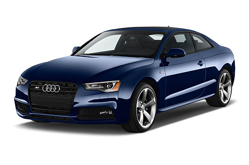 AUT 51 IZ0131 01 © Kimball Stock 2015 Audi S5 4.2 Quattro Tiptronic Premium Plus Coupe 2-Door 3/4 Front View In Studio