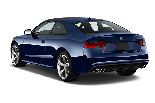 AUT 51 IZ0132 01 © Kimball Stock 2015 Audi S5 4.2 Quattro Tiptronic Premium Plus Coupe 2-Door 3/4 Rear View In Studio
