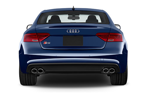 AUT 51 IZ0136 01 © Kimball Stock 2015 Audi S5 4.2 Quattro Tiptronic Premium Plus Coupe 2-Door Rear View In Studio