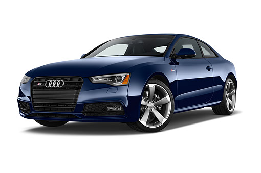 AUT 51 IZ0138 01 © Kimball Stock 2015 Audi S5 4.2 Quattro Tiptronic Premium Plus Coupe 2-Door 3/4 Front View In Studio