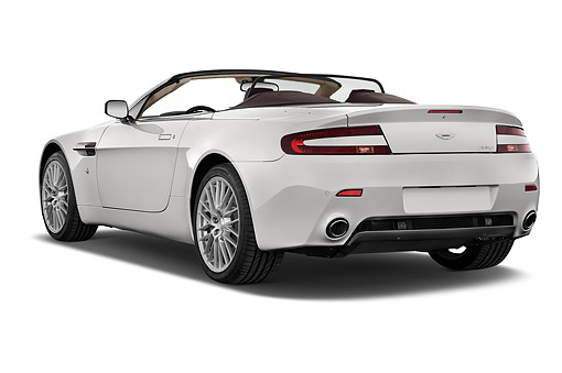 AUT 51 IZ0147 01 © Kimball Stock 2015 Aston Marton V8 Vantage Roadster 2-Door Convertible 3/4 Rear View In Studio