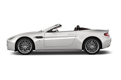 AUT 51 IZ0151 01 © Kimball Stock 2015 Aston Marton V8 Vantage Roadster 2-Door Convertible Profile View In Studio