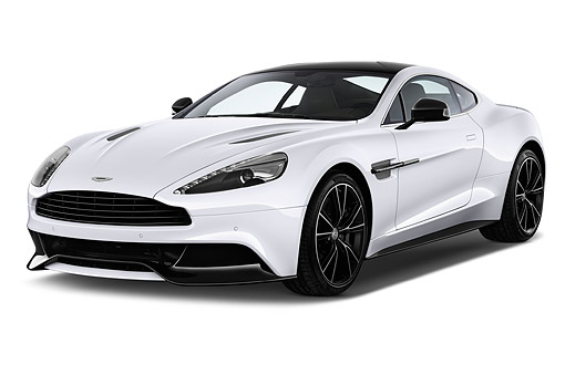 AUT 51 IZ0153 01 © Kimball Stock 2015 Aston Martin Vanquish Coupe 2-Door 3/4 Front View In Studio