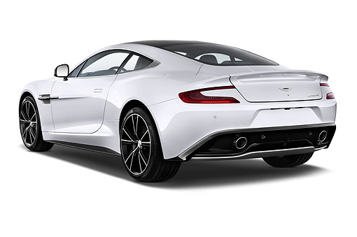 AUT 51 IZ0154 01 © Kimball Stock 2015 Aston Martin Vanquish Coupe 2-Door 3/4 Rear View In Studio