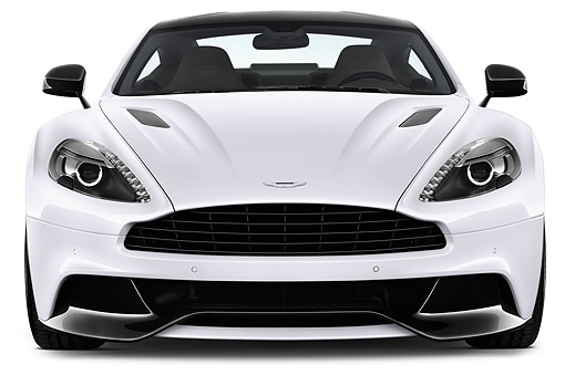 AUT 51 IZ0156 01 © Kimball Stock 2015 Aston Martin Vanquish Coupe 2-Door Front View In Studio