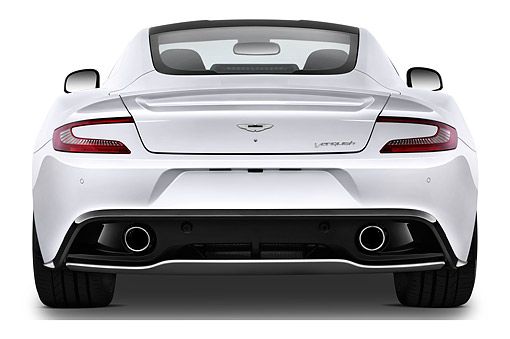 AUT 51 IZ0157 01 © Kimball Stock 2015 Aston Martin Vanquish Coupe 2-Door Rear View In Studio
