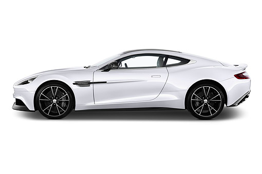 AUT 51 IZ0158 01 © Kimball Stock 2015 Aston Martin Vanquish Coupe 2-Door Profile View In Studio