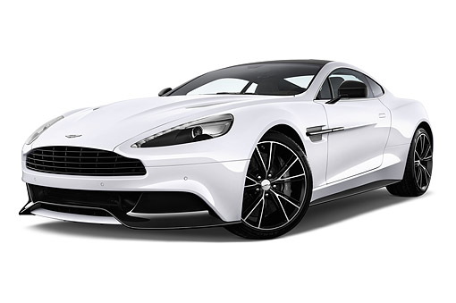 AUT 51 IZ0159 01 © Kimball Stock 2015 Aston Martin Vanquish Coupe 2-Door Low 3/4 Front View In Studio