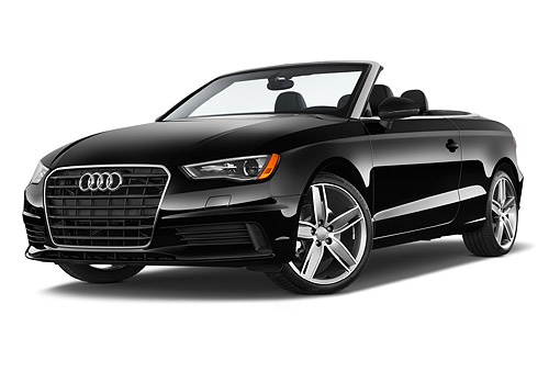 AUT 51 IZ0166 01 © Kimball Stock 2015 Audi A3 1.8 Premium Plus Cabriolet 2-Door Convertible Low 3/4 Front View In Studio