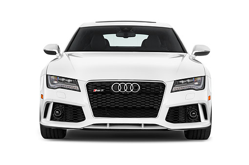 AUT 51 IZ0170 01 © Kimball Stock 2015 Audi RS7 Quattro Tiptronic Prestige 4-Door Hatchback Front View In Studio