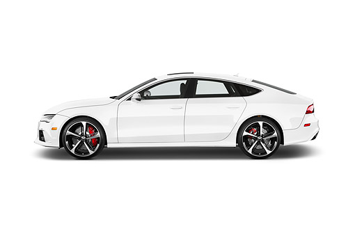 AUT 51 IZ0172 01 © Kimball Stock 2015 Audi RS7 Quattro Tiptronic Prestige 4-Door Hatchback Profile View In Studio