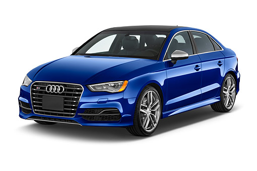 AUT 51 IZ0174 01 © Kimball Stock 2015 Audi S3 Premium Plus 4-Door Sedan 3/4 Front View In Studio