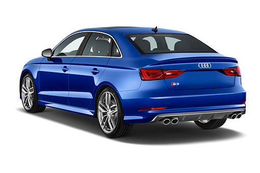 AUT 51 IZ0175 01 © Kimball Stock 2015 Audi S3 Premium Plus 4-Door Sedan 3/4 Rear View In Studio
