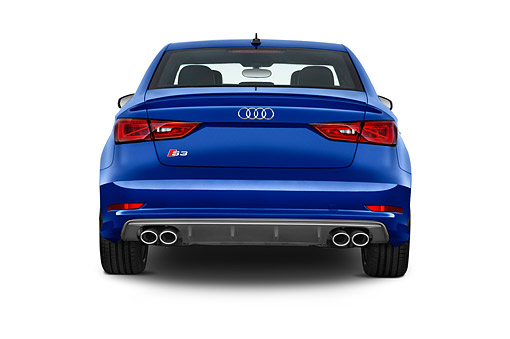 AUT 51 IZ0178 01 © Kimball Stock 2015 Audi S3 Premium Plus 4-Door Sedan Rear View In Studio