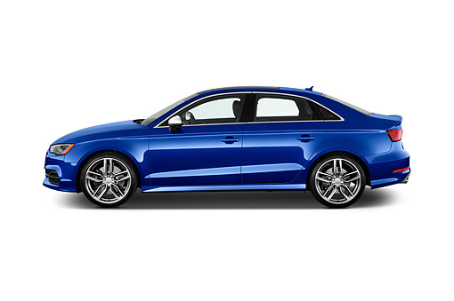 AUT 51 IZ0179 01 © Kimball Stock 2015 Audi S3 Premium Plus 4-Door Sedan Profile View In Studio