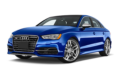 AUT 51 IZ0180 01 © Kimball Stock 2015 Audi S3 Premium Plus 4-Door Sedan Profile View In Studio
