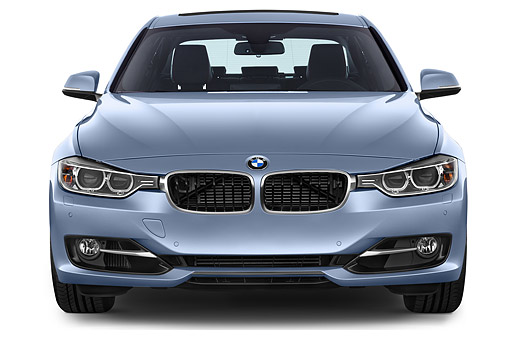 AUT 51 IZ0191 01 © Kimball Stock 2015 BMW 3 Series ActiveHybrid 3 4-Door Sedan Front View In Studio