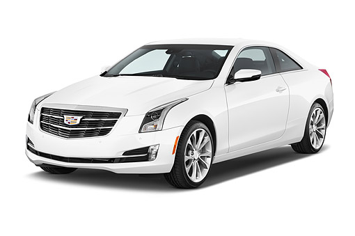 AUT 51 IZ0209 01 © Kimball Stock 2015 Cadillac ATS Coupe 2.0 RWD Premium 2-Door 3/4 Front View In Studio