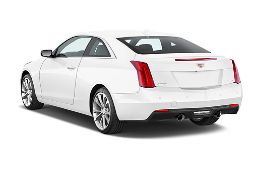 AUT 51 IZ0210 01 © Kimball Stock 2015 Cadillac ATS Coupe 2.0 RWD Premium 2-Door 3/4 Rear View In Studio