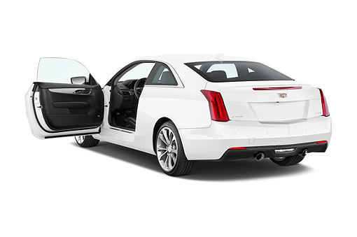 AUT 51 IZ0211 01 © Kimball Stock 2015 Cadillac ATS Coupe 2.0 RWD Premium 2-Door 3/4 Rear View In Studio