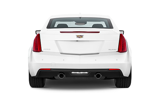 AUT 51 IZ0213 01 © Kimball Stock 2015 Cadillac ATS Coupe 2.0 RWD Premium 2-Door Rear View In Studio