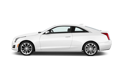 AUT 51 IZ0214 01 © Kimball Stock 2015 Cadillac ATS Coupe 2.0 RWD Premium 2-Door Profile View In Studio