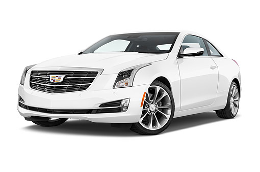 AUT 51 IZ0215 01 © Kimball Stock 2015 Cadillac ATS Coupe 2.0 RWD Premium 2-Door Low 3/4 Front View In Studio