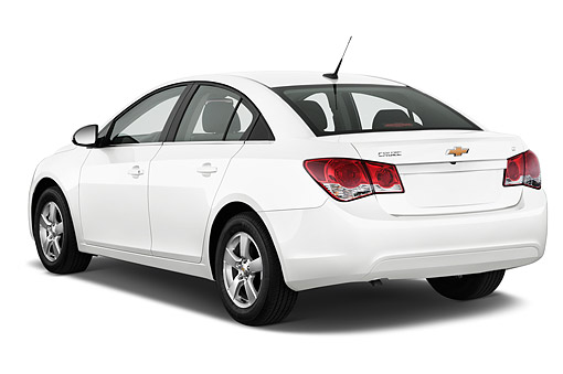 AUT 51 IZ0217 01 © Kimball Stock 2015 Chevrolet Cruz Sedan 2LT Automatic 4-Door 3/4 Rear View In Studio