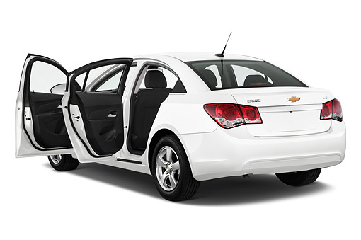 AUT 51 IZ0218 01 © Kimball Stock 2015 Chevrolet Cruz Sedan 2LT Automatic 4-Door 3/4 Rear View In Studio