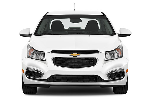 AUT 51 IZ0219 01 © Kimball Stock 2015 Chevrolet Cruz Sedan 2LT Automatic 4-Door Front View In Studio