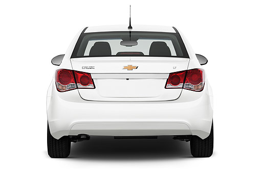 AUT 51 IZ0220 01 © Kimball Stock 2015 Chevrolet Cruz Sedan 2LT Automatic 4-Door Rear View In Studio