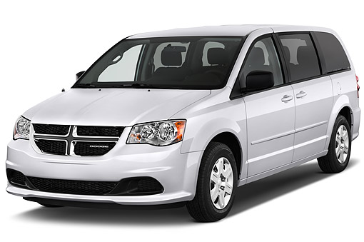 AUT 51 IZ0237 01 © Kimball Stock 2015 Dodge Grand Caravan SE 4-Door Mini Van 3/4 Front View In Studio