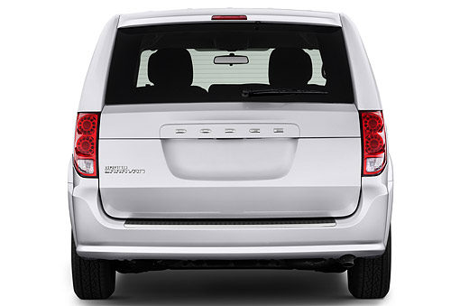 AUT 51 IZ0241 01 © Kimball Stock 2015 Dodge Grand Caravan SE 4-Door Mini Van Rear View In Studio