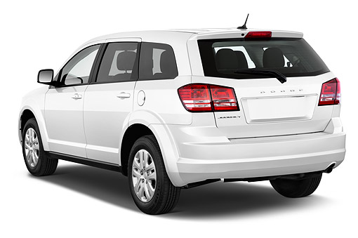 AUT 51 IZ0245 01 © Kimball Stock 2015 Dodge Journey American Value Package 5-Door SUV 3/4 Rear View In Studio