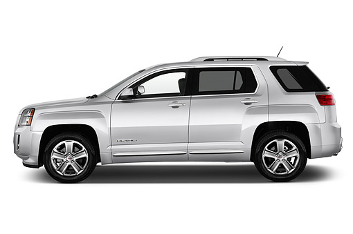 AUT 51 IZ0305 01 © Kimball Stock 2015 GMC Terrain FWD Denali 5-Door SUV Profile View In Studio