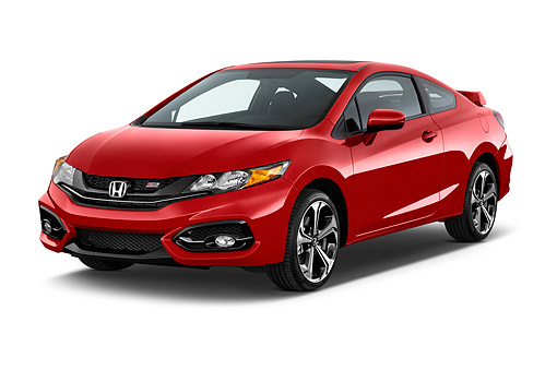 AUT 51 IZ0330 01 © Kimball Stock 2015 Honda Civic Si Coupe 2-Door 3/4 Front View In Studio