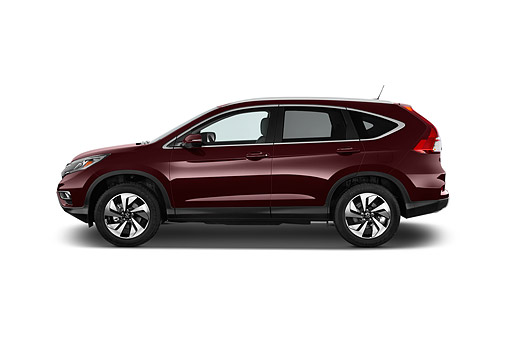 AUT 51 IZ0349 01 © Kimball Stock 2015 Honda CR-V Touring 2WD 5-Door Suv Profile View In Studio